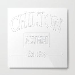 Chilton Alumni Navy Heather Metal Print