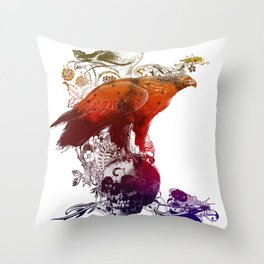 the watchers 3 color version Throw Pillow