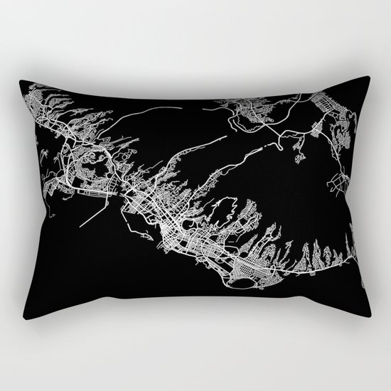 Honolulu map Rectangular Pillow
