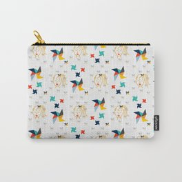 Pinwheels and Ponytails Carry-All Pouch