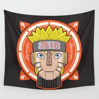 naruto Wall Tapestries featuring Mecha Naruto by Enrique Valles