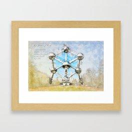 Atomium Brussels, Belgium Framed Art Print