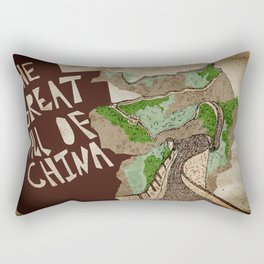The Great Wall of China  Rectangular Pillow