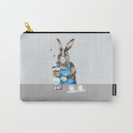 Rabbit brewing coffee with siphon Carry-All Pouch