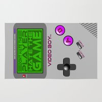 video game Area & Throw Rugs featuring Don't Hate The Player, Hate The Game!  |  Video Game by Silvio Ledbetter