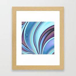 Abstract Fractal Colorways 02PrBl Framed Art Print