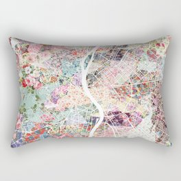 Budapest map Rectangular Pillow