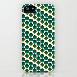 Green gems iPhone Case