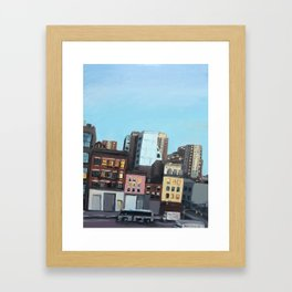 Twilight on 10th Avenue Framed Art Print