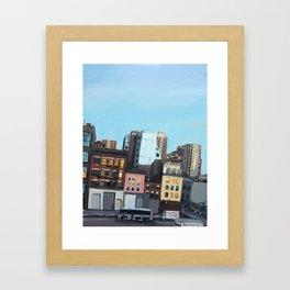 Twilight on 10th Avenue Framed Art Print