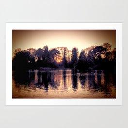 Sunset across the Lake. Art Print