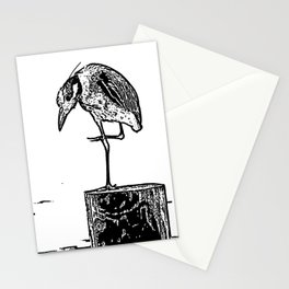 B&W Heron Stationery Cards