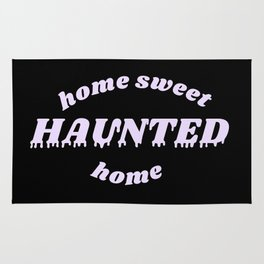 home sweet haunted home Rug