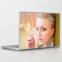 cigarette Laptop & iPad Skins featuring Cigarette Girl by Marcus Meisler