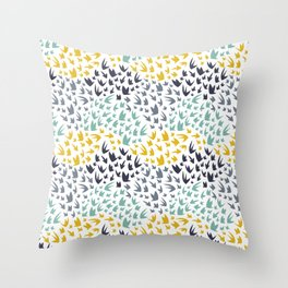 Abstract Flying Birds Throw Pillow
