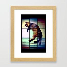 Cat (mosaico) Framed Art Print