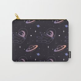 Astro sloth and planet sloth pattern Carry-All Pouch