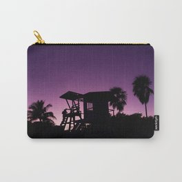 Baywatch tower silhouette sunset Carry-All Pouch