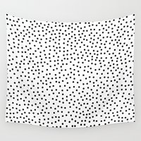 dots Wall Tapestries featuring Dots.. by Priscila Peress