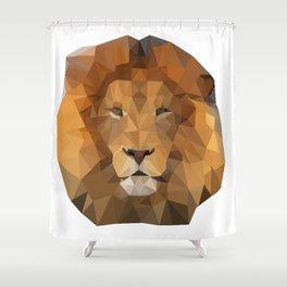 Geometric Aslan Shower Curtain
