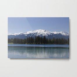 Mountains at Lac Beauvert Metal Print