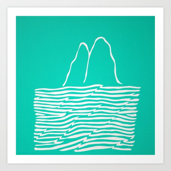 Sea Foam Waves Art Print