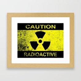 Caution Radioactive Sign Framed Art Print