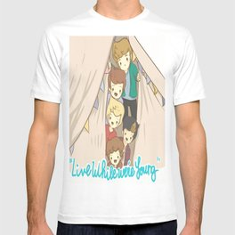 One Direction Live Like We're Young Cartoon 2 T-shirt