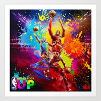 nba Art Prints featuring NBA by Don Kuing