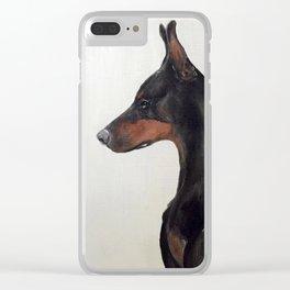 Doberman Profile Clear iPhone Case