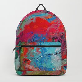 Heaven Rejoices Multi Colored Abstract Luke 15:7 Backpack