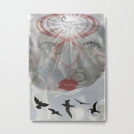 Face Light Metal Print