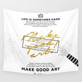 Make Good Art - Neil Gaiman Wall Tapestry