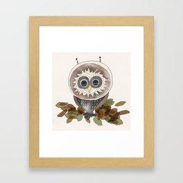 Owl - Sleeping Animals Framed Art Print