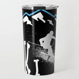 Downhil Skiing Travel Mug