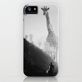 Giraffes at the Beach iPhone Case