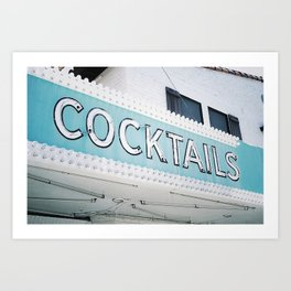 Cocktails Art Print