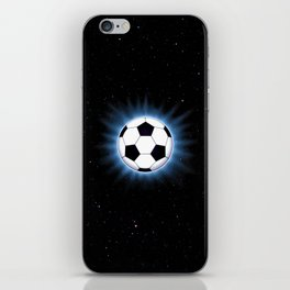 Spacey Soccer Ball iPhone Skin