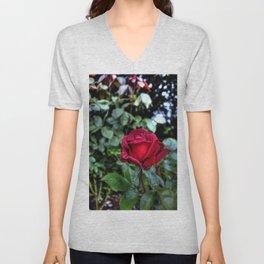 Red Velvet Rose Unisex V-Neck