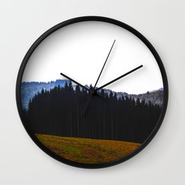 Edge Of The Forest Landscape Round Photo Wall Clock
