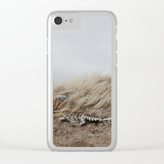 Winded Skeleton Clear iPhone Case