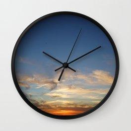 Orbs at Sunset Wall Clock