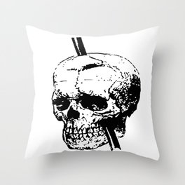 Skull of Phineas Gage With Tamping Iron Throw Pillow