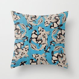 Speckled Koi Throw Pillow