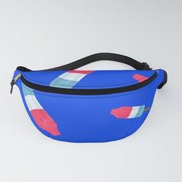 Popsicles - Retro Pattern - (cobalt blue background) Fanny Pack
