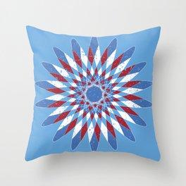 Distressed Kaleidoscope Throw Pillow
