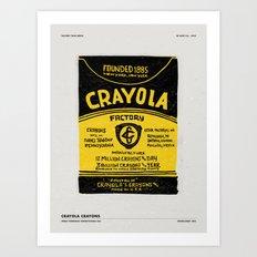 CRAYOLA FACTORY TOUR Art Print