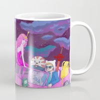lumpy space princess Mugs featuring Adventure in lumpy space by Sara Meseguer