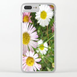 Daisies in the Grass Clear iPhone Case