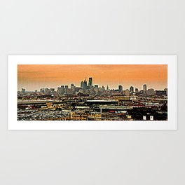 Philly Spread Art Print